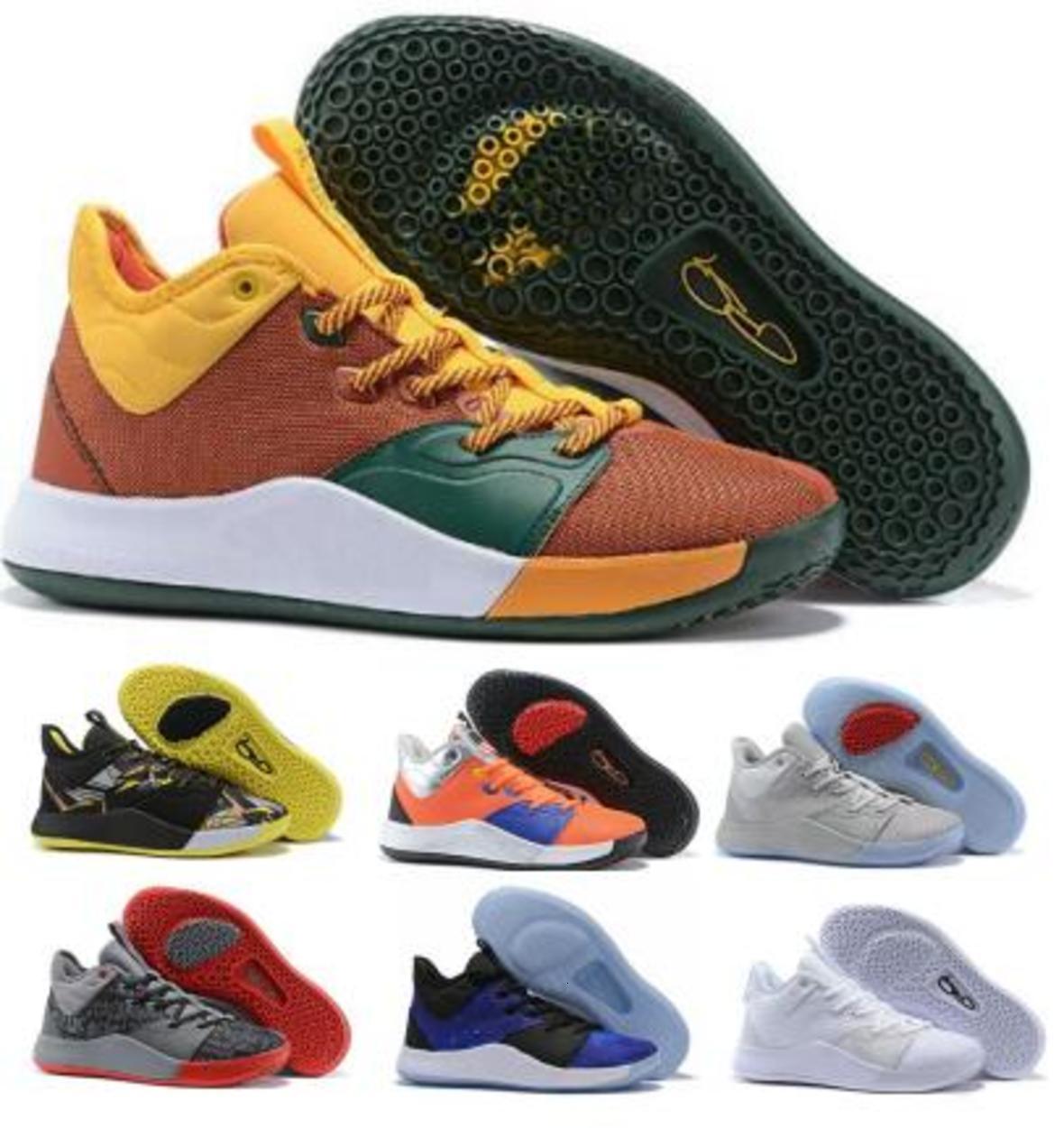 PG3 Pg 3 Erkek Basketbol Ayakkabı Sneakers Beyaz Paul George Nasa 3s Mamba Zihniyet BHM Moda 2020 Des Chaussures Eğitmenler Ayakkabı