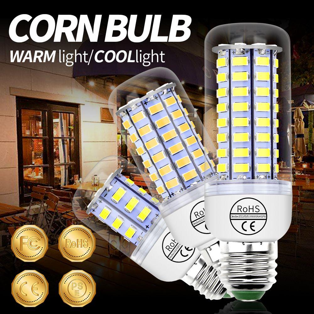 GU10 Bulb Led Corn Lamp E14 220V Light Bulb Led E27 Chandelier Led Candle Light 3W 5W 7W 9W 12W 15W B22 Home Ampoule SMD 5730