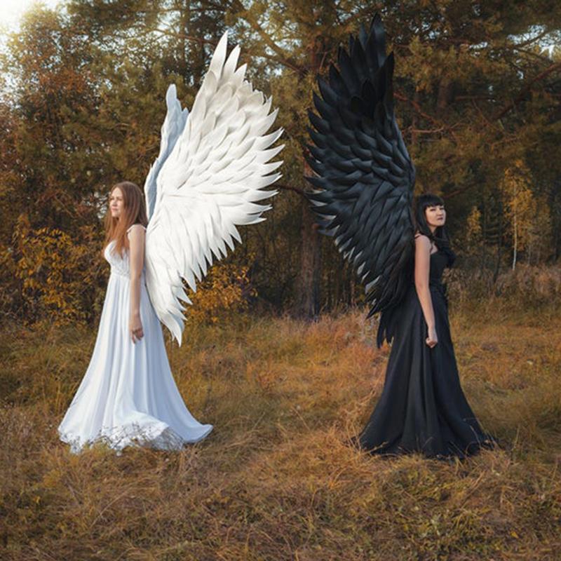 Halloween 3D del diablo del ángel las alas grandes para el uso diario del tema de Halloween Cosplay del partido Gran regalo para los amantes Griends y animado de DropShip
