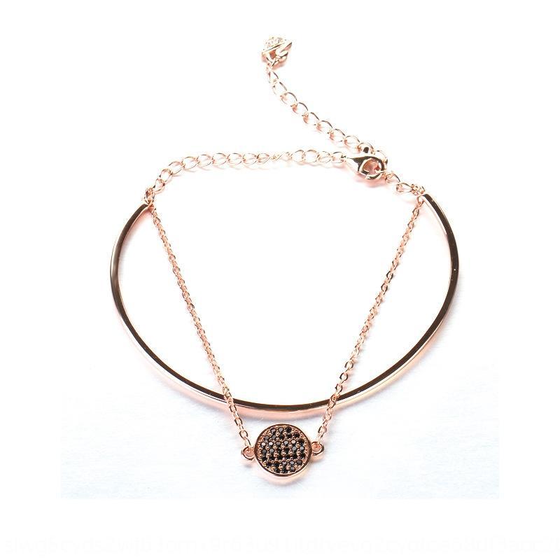 niE9b S925 Sterling Silber Netto rote Schläger Mikro-Intarsien Stein Red Ball Stein Diamantarmband zwei-in-one zweischichtige Armband für Frauen