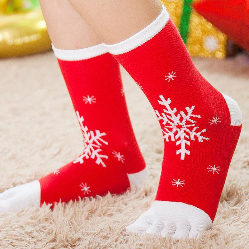 Çocuk Noel Çizgi film çorap sıcak rahat ve nefes alabilen beş parmak çorap sonbahar ve kış7-12 yaş arası