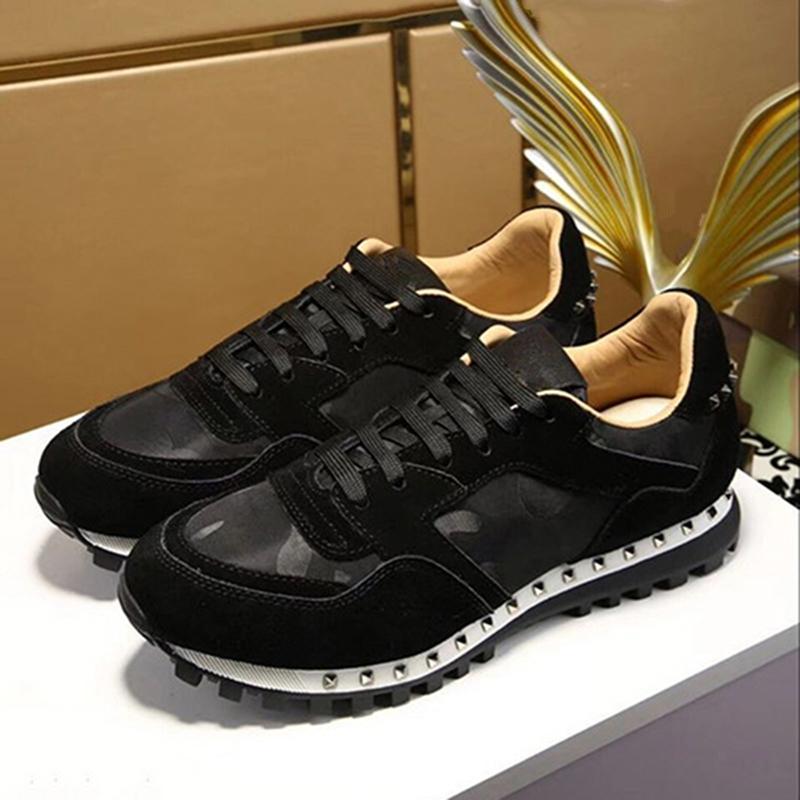 novos multicolor camuflagem sapatos amantes rebite desporto primavera outono sapatos casuais lacing moda confortável calçados esportivos respirável ic39