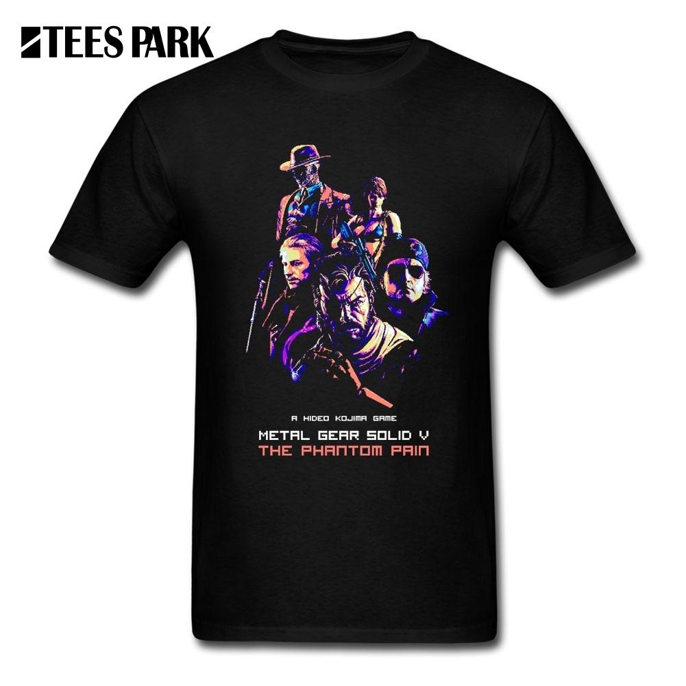 Lavorazioni shirt MGS Metal Gear Solid Maglie maniche corte da uomo in cotone Organnic Promozione adulti T Shirt Dress