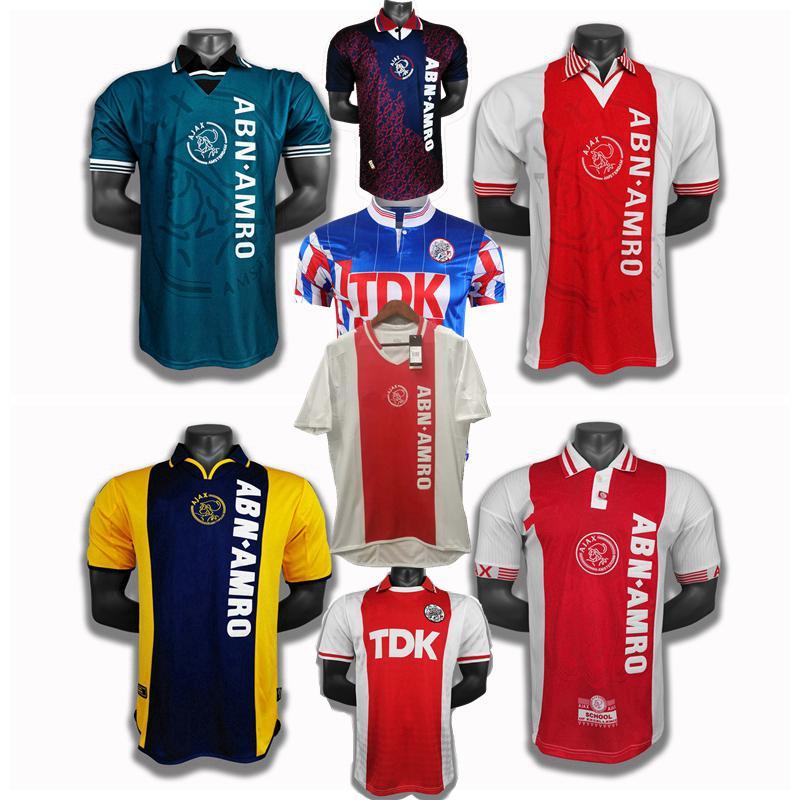 Ajax Retro classic 1989 1990 1991 1994 1995 1996 97 98 99 2000 2001 2004 2005 ajax soccer jerseys home away Retro football shirt