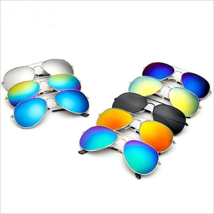Lunettes de soleil grenouille lunettes unisexe miroir Lunettes de soleil réfléchissant Rétro grenouille Outdoor Lunettes de soleil mode classique lunettes lunettes