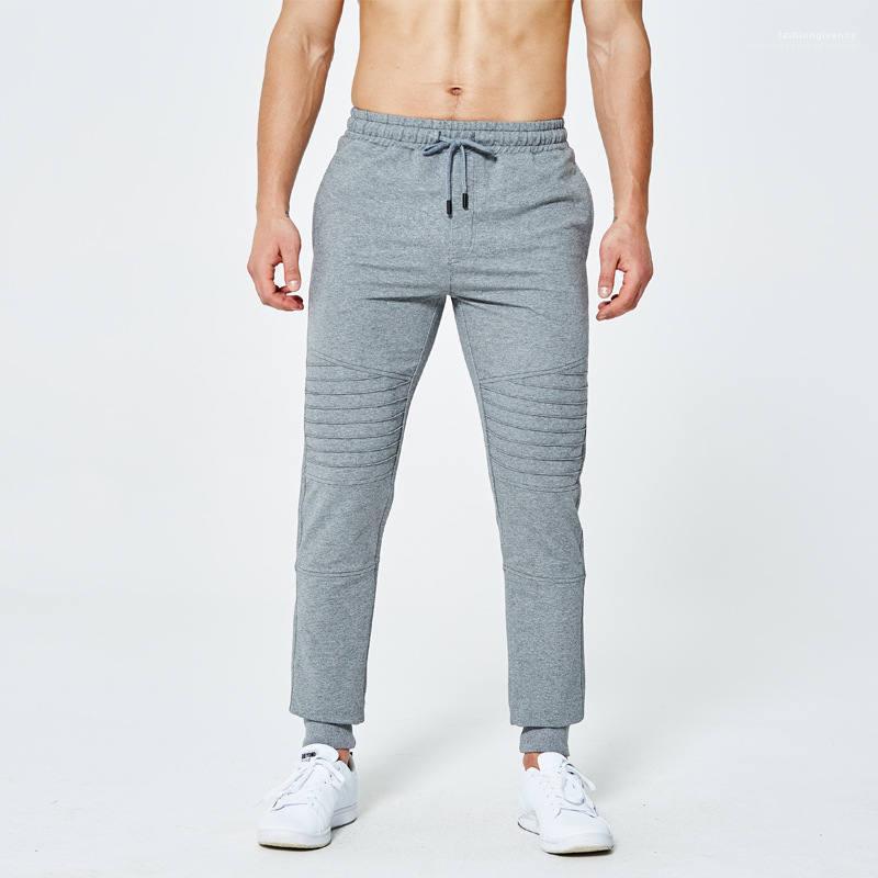 Мужские Drawstring Straight Сплошные цвета Полная длина Брюки Мужчины Спорт Ноги Брюки мужские Весна Одежда мужская Дизайнерские брюки