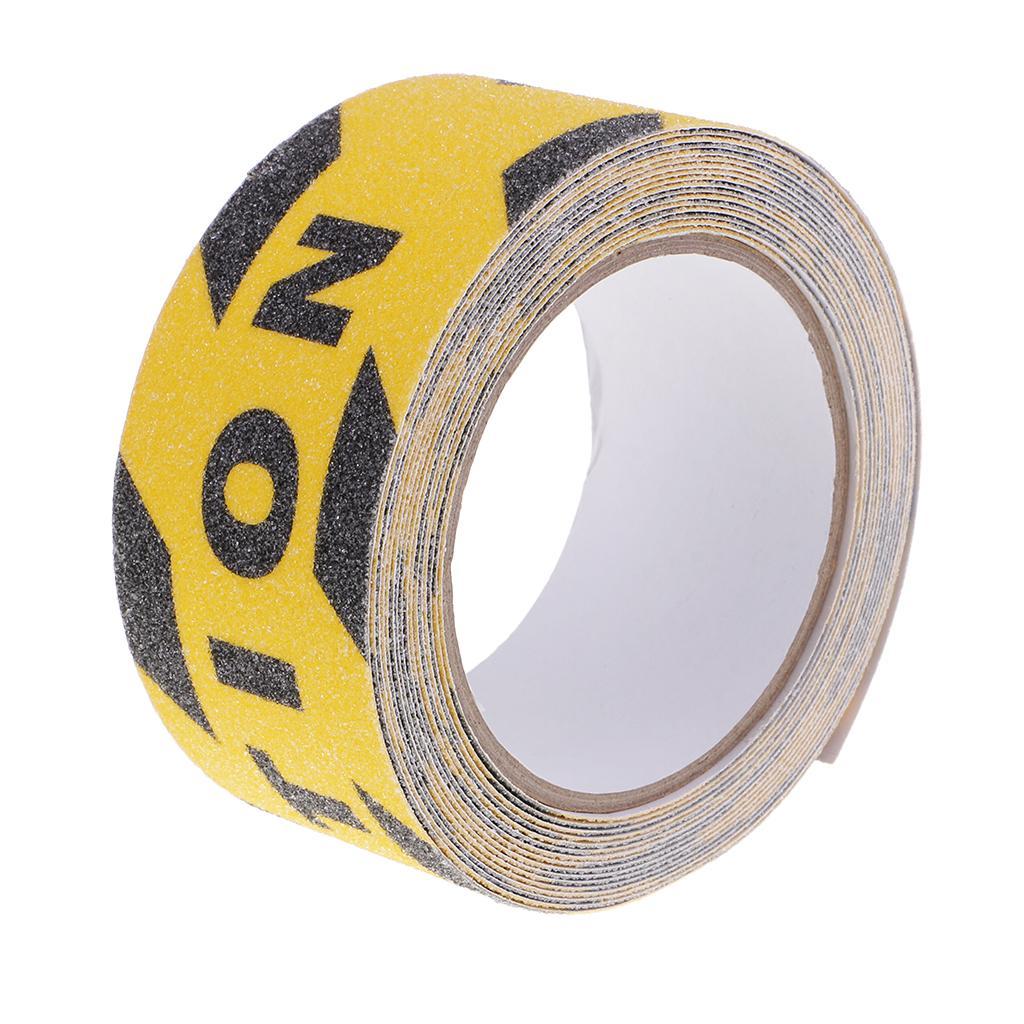 5m Yapışkan Taze Renk Yansıtıcı Güvenlik Uyarı barizlik Tape Sticker İşaretler Merdiven Çıkartmaları 4.8cm Dikkat