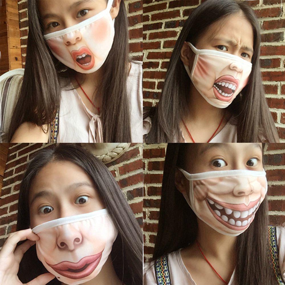 Выражение лица Смешные Хлопок Рот маска Anti-Dust Рот-муфельной Респиратор