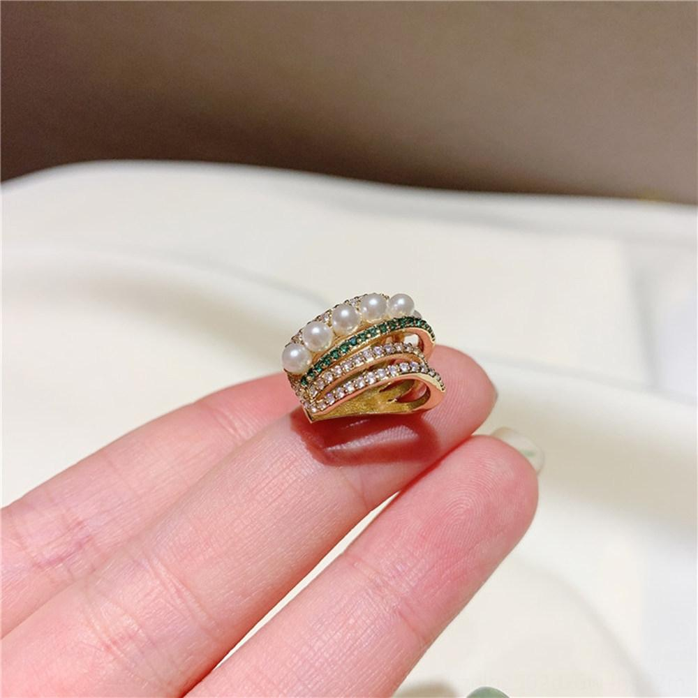 tlL5f koreanischen Stil Design Grüner Diamant Kreis elegant Stein Perle Perle Persönlichkeit modische Ohrringe Sterling Silber Ohrringe Nadel Online
