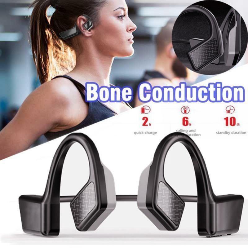 K08 conduzione ossea Bluetooth 5.0 Wireless Headphones Sport Headphones corso impermeabile cuffie senza fili con microfono