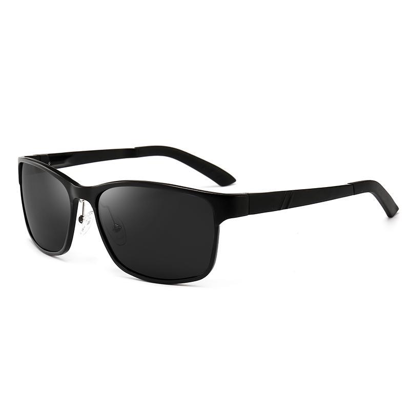 Legierung Sonnenbrille UV400 Classic Aluminium Magnesium Polarisierte Eyewear 658 Tempel Material Linsen Polaroidschutz Männer PQXPQ