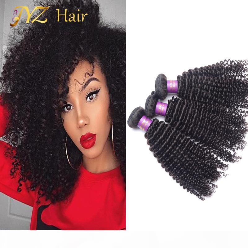 JYZ Brazilian Kinky Curly Virgin Hair For Sale Peruvian Human Hair Cheap Malaysian 3 Bundles Afro Kinky Curly Hair Mongolian Kinky Curly