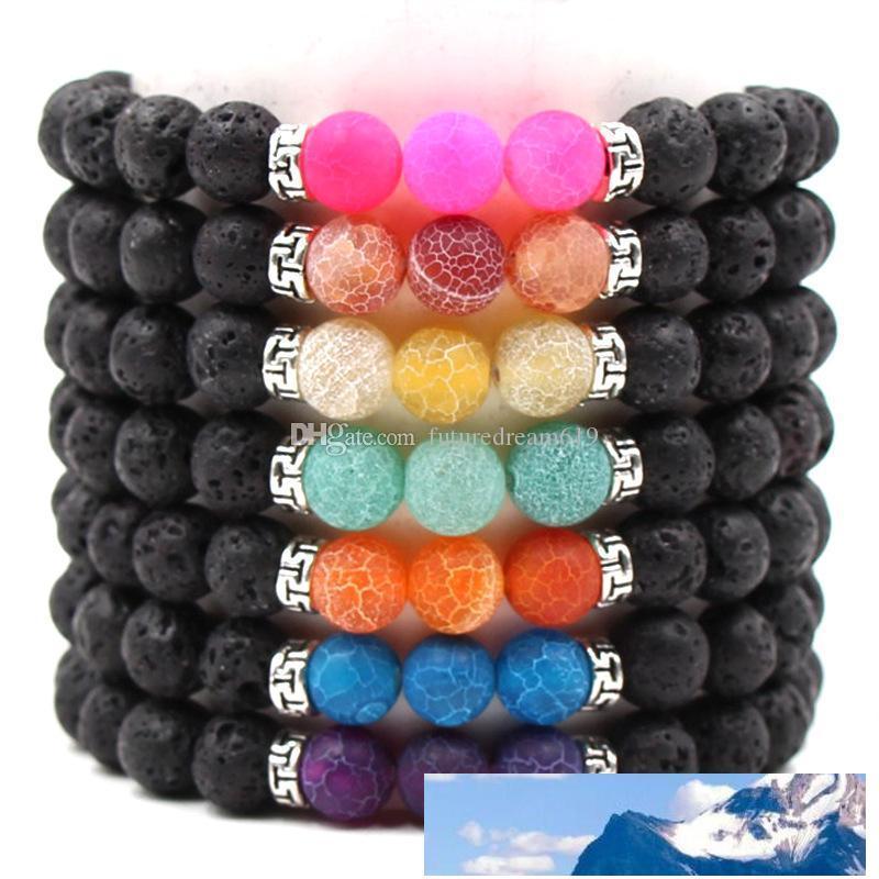 New Style 7 stili braccialetto della pietra preziosa pietre naturali bracciali Stretch braccialetti di fascino gioielli colorati yoga borda il braccialetto fortunato