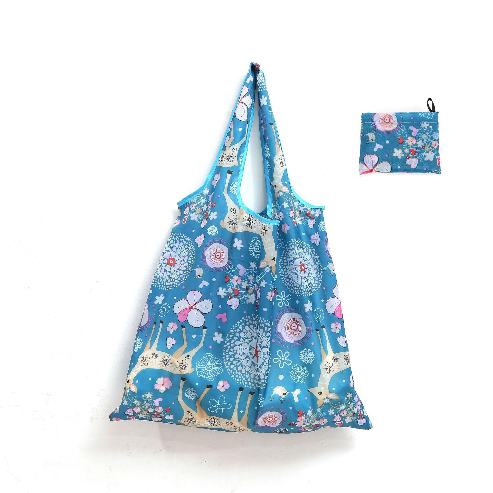 46 * 40см Мягкая складная Корзина Большой мешок полиэстер портативный мешок бесплатная доставка подарков нейлон Складная многоразовый Eco-Friendly выполненное на заказ