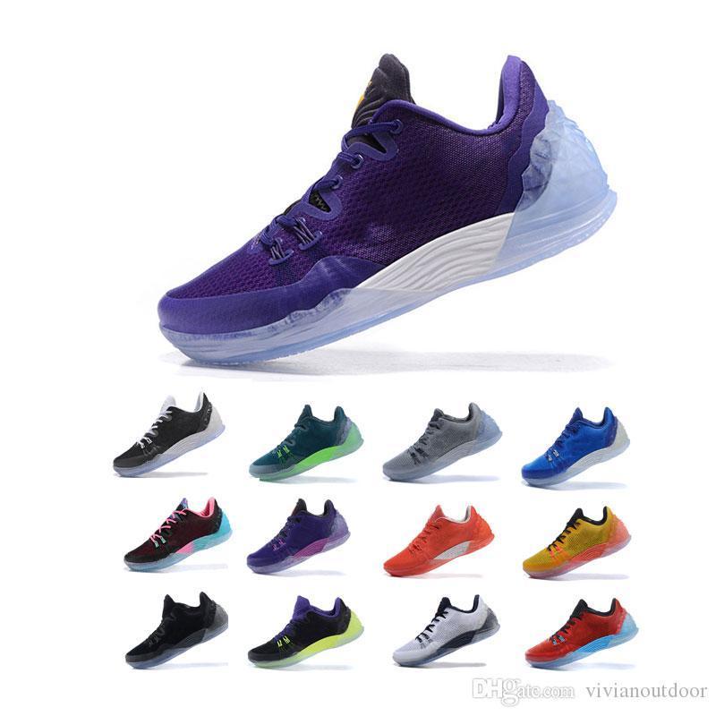 Nike Kyrie 5 Basketball Shoes Ingrosso 2020 New Kyrie 5 Scarpe da pallacanestro da uomo Splatters ricamati di moda Storia nera Mese 20 ° anniversario Sponge x Irving Trainers
