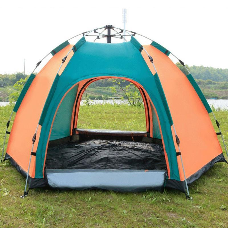3-4 Person Portable Beach Tent Outdoor Automatic Tent Instant Pops up Camping Anti-UV Shelter Fishing Hiking Picnic#L