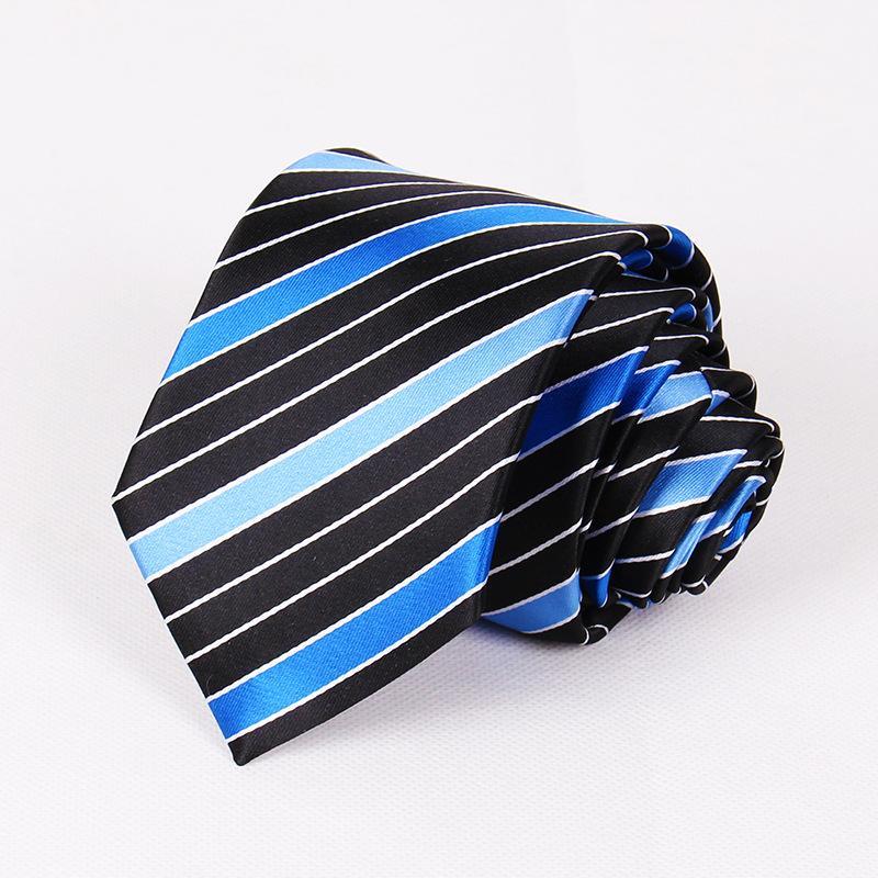 Linbaiway 7.5cm Cravates pour hommes Cravate polyester pour les costumes d'affaires de mariage cravate hommes Cravate Skinny Gravatas Logo personnalisé