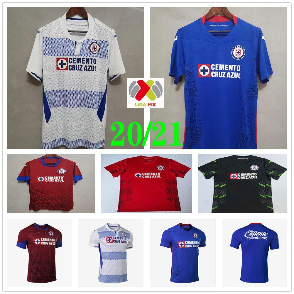 2020 2021 MX Liga Cruz Azul Soccer Jerseys ALVARADO RODRIGUEZ PINEDA ESCOBAR ROMO CARAGLIO MONTOYA MENDEZ Custom Man Women Football Shirt