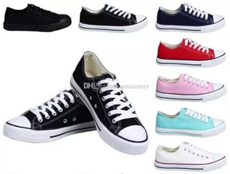 2021 Frauen Männer Schuhe Neue 15 Farben alle Größe 35-46 Unisex Hoch-Spitze Low Adult geschnürtes oben beiläufige Schuh-Turnschuh-Schuhe Tropfen-Verschiffen