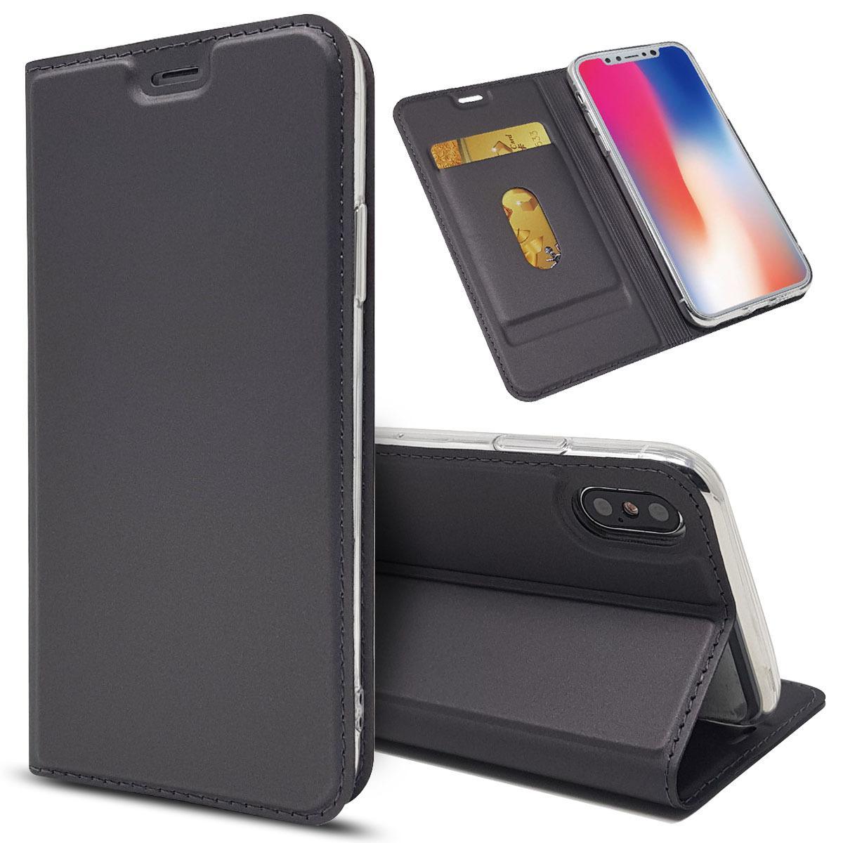 Luxe Porte-monnaie en cuir flip carte pour l'iphone SE 2 11 Pro Max Xs Xr X magnétique Retour Support pour iPhone X 7 8 Plus 6s 6