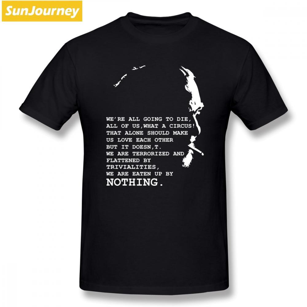 Camisetas de Charles Bukowski de los hombres de verano de manga corta de algodón o-cuello más tamaño camiseta para hombre camiseta tops