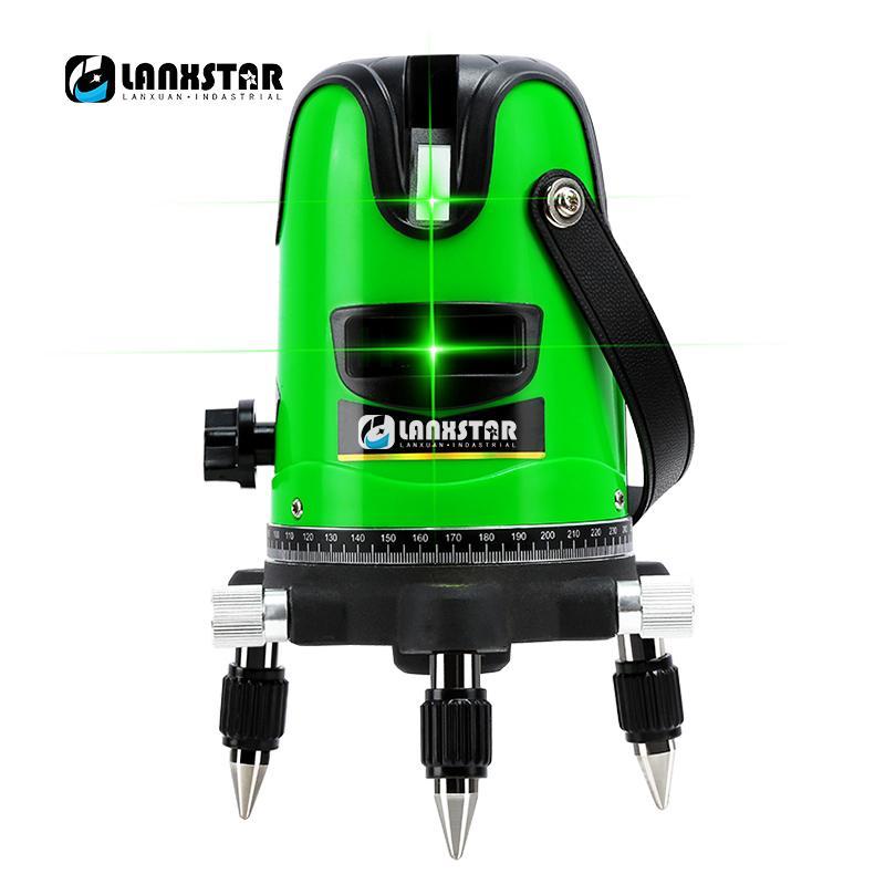 Lanxstar Laser Crosshair Nível Modo Outdoor 808nm 2 Linha 3Line 5Line rotação LD