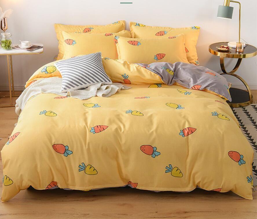 European modern business bedding wash silk version cotton cottonqueen Bed Comforters Sets designer bedding sets Quilt cover 4 pieces suit