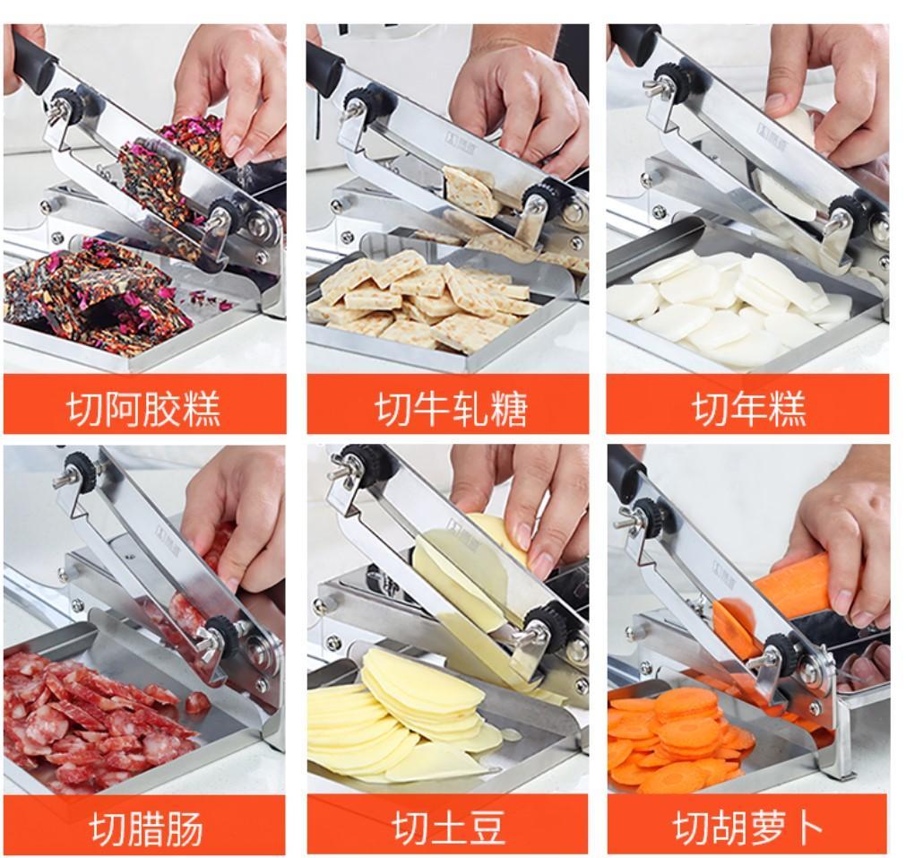 Manuel Slicer Meat Slicer poulet canard poisson Viande d'agneau os Machine à couper en acier inoxydable commercial des ménages