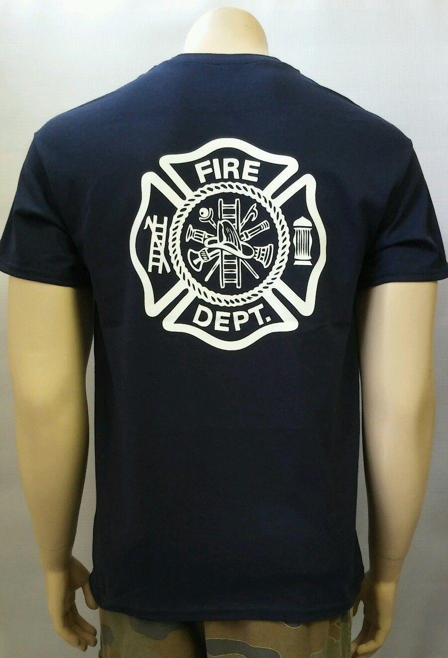 Nouveau 2019 populaire marque célèbre col rond Mode Homme T-shirt Pompier SERVICE DE SAUVETAGE GRAPHIC BLANC T-shirt imprimé