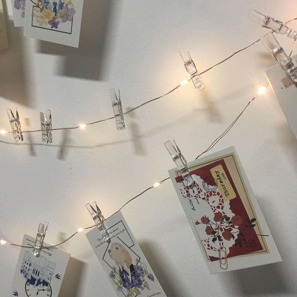3M 5M 10M Fotoclip usb führte Lichterketten Schlafzimmer Foto Wanddekor Fee Girlande Lichter Weihnachten Hochzeit Weihnachtsparty dekorativ