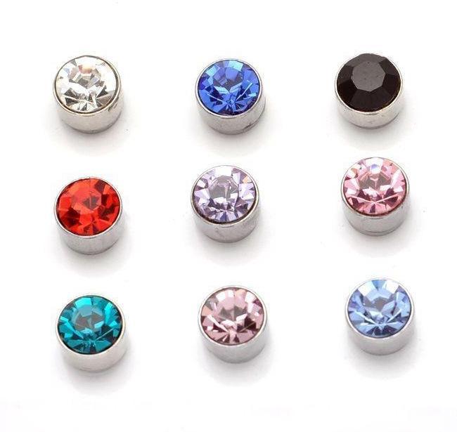 9 Colors Zircon Magnet Earrings Fashion Small Stud Earrings Jewelry for Women Keep Healthy Gifts