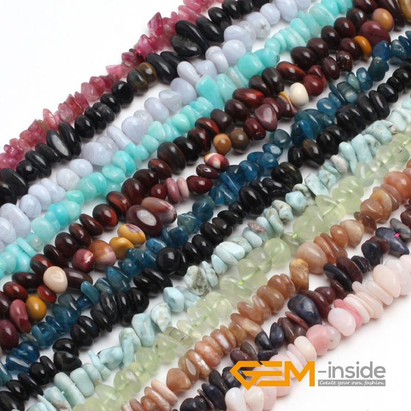 """6x8mm Freeform Beads pietra naturale: Peridot, amazonite, Aventurine, Sole Pietra, tormalina, granato, Calcedonio, Strand 15"""" di trasporto"""