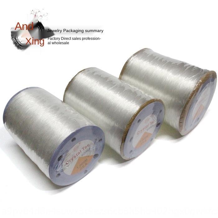 S0Moa Round 1000 m transparenten elastischen Draht DIY Material Hand Seil gebördelt Diy Kristall gebördelte Kristallmaterial rope