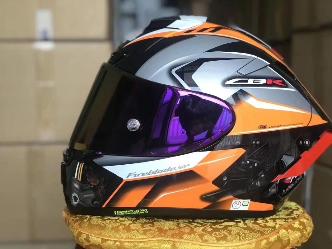 Full Face Motorrad Helm X14 CBR- orange Farbe Helm Reiten Motocross Racing Motobike