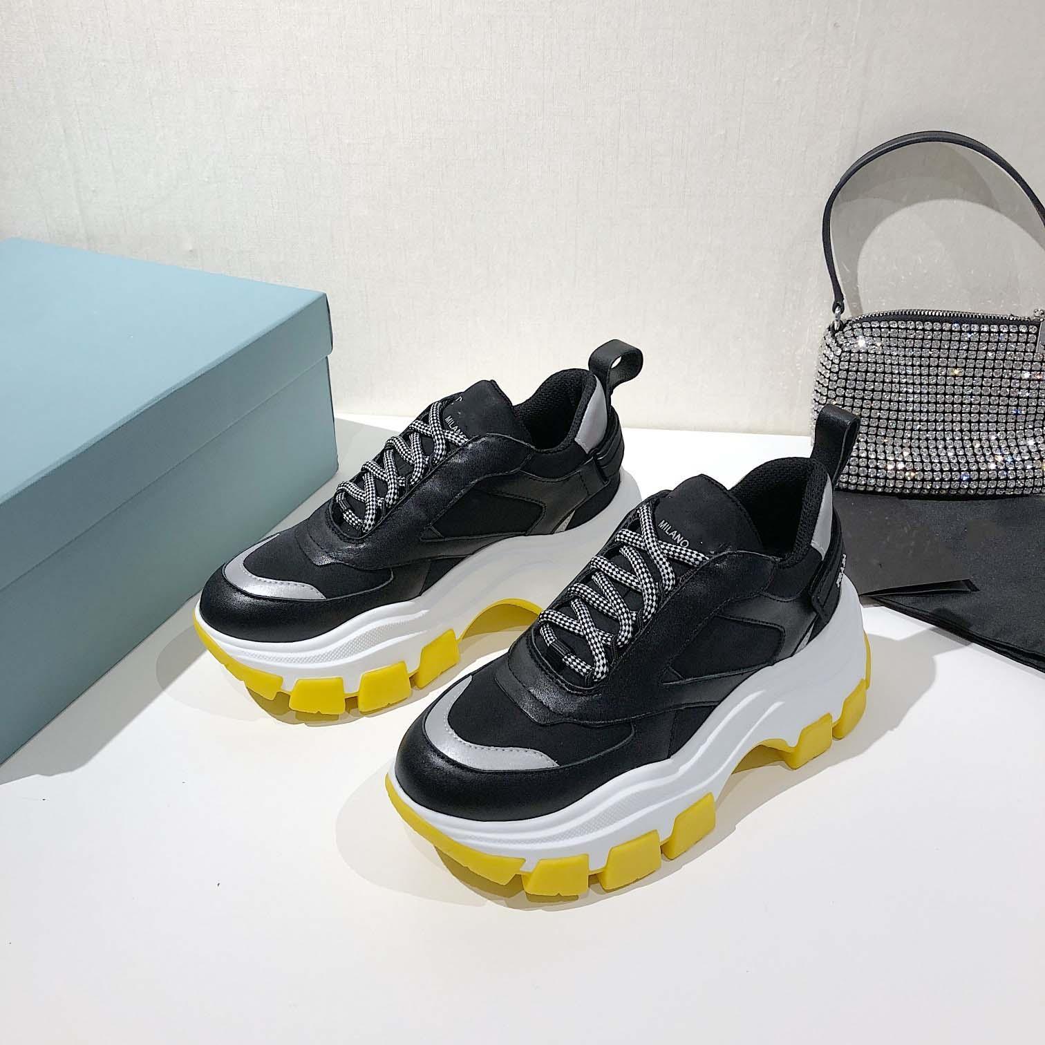 PRADA shoes Perfect Rock Runner Camuflagem Couro Tênis Sapatos Homens, Mulheres Moda Lusso Estilo Rock Studs Outdoor CAMUSTARS Sapatilhas Sapatos casuais
