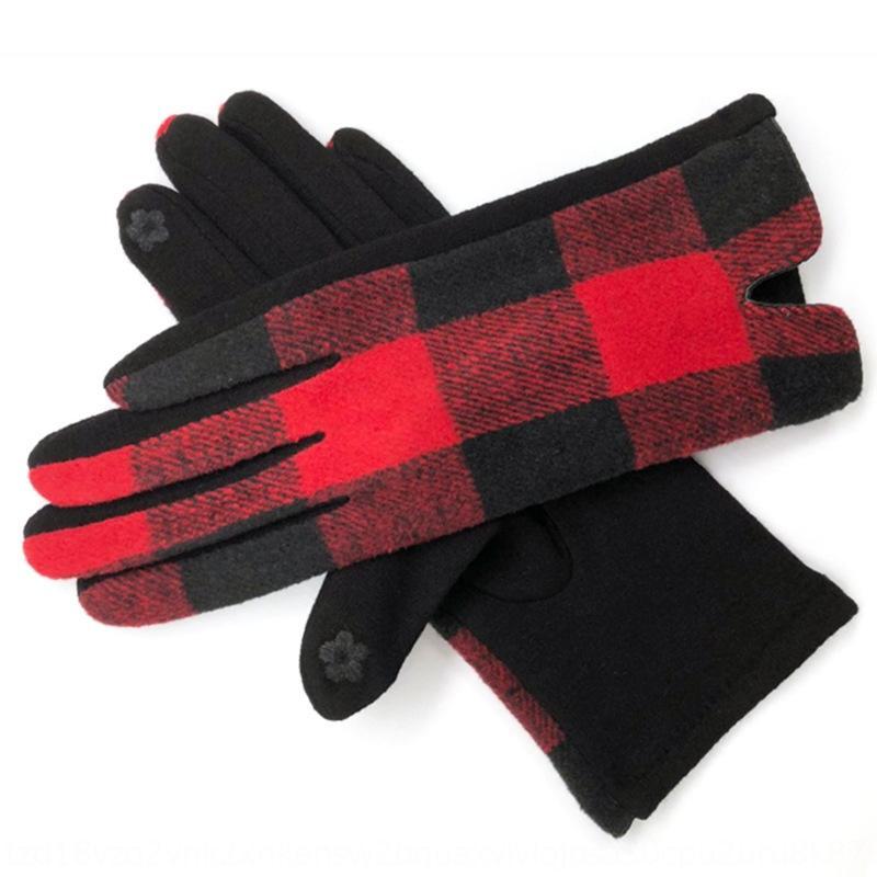 3bIyh Новый шерстяной плед теплые и модные бархатные европейские перчатки стиль теплые Холодостойкие женские перчатки