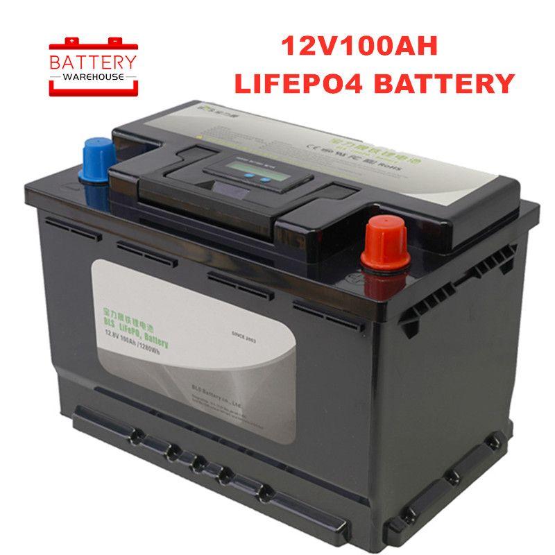 12V100AH LiFePo4 Battery Rechargeable Batteries Lithium Iron Phosphate 12.8V RV motor/boat motors/inverter/solar panel/powerbank