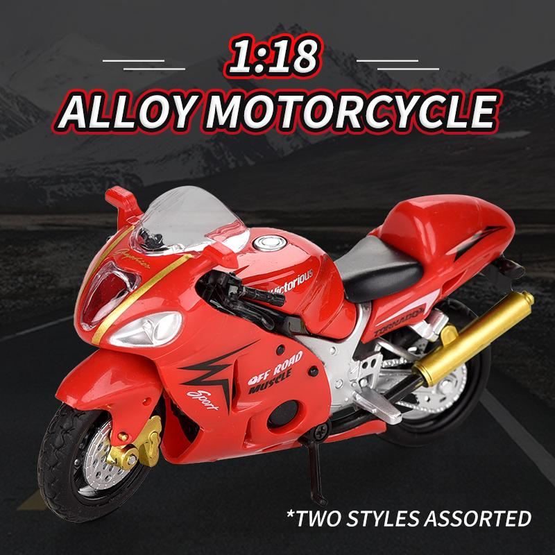Cool 1:18 Alloy motorcycle toy Cool Motorcycle model Boy Collection Room decoration Kid Boy gift 12 pcs