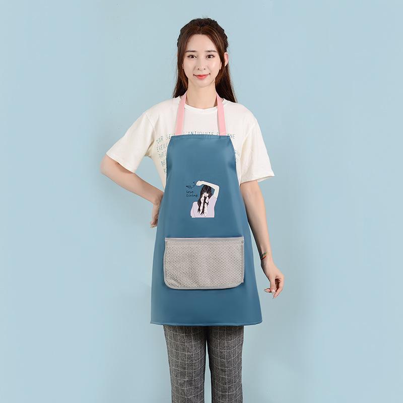 El diseñador de moda delantal color sólido bolsillo grande la familia del cocinero cocinar en casa Hornear Herramientas de Limpieza Arte Hornear babero delantal