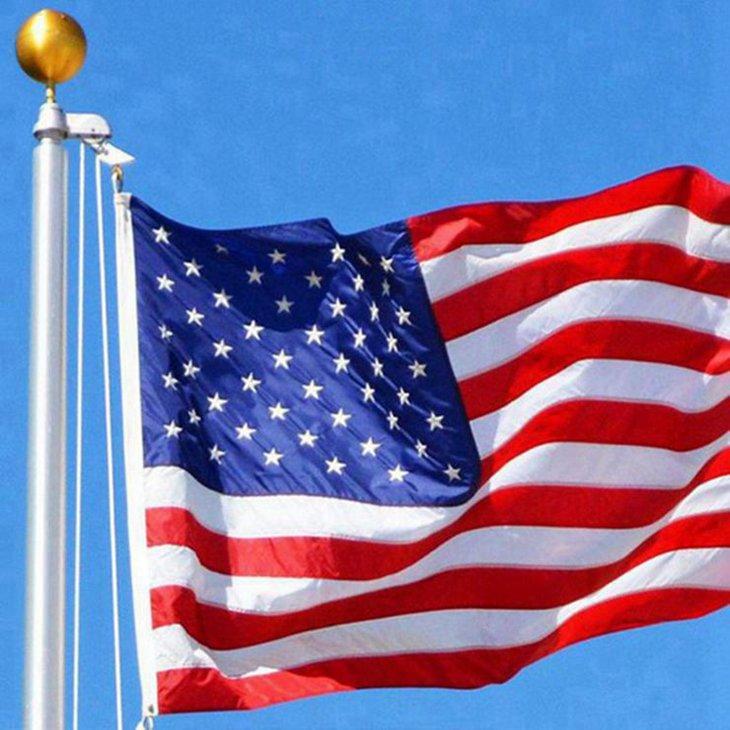 300pcs американского звездно-полосатый флаг Флаги США Президентских кампании Баннер Флаг президент кампания Баннер 90 * 150см Сад Флагов