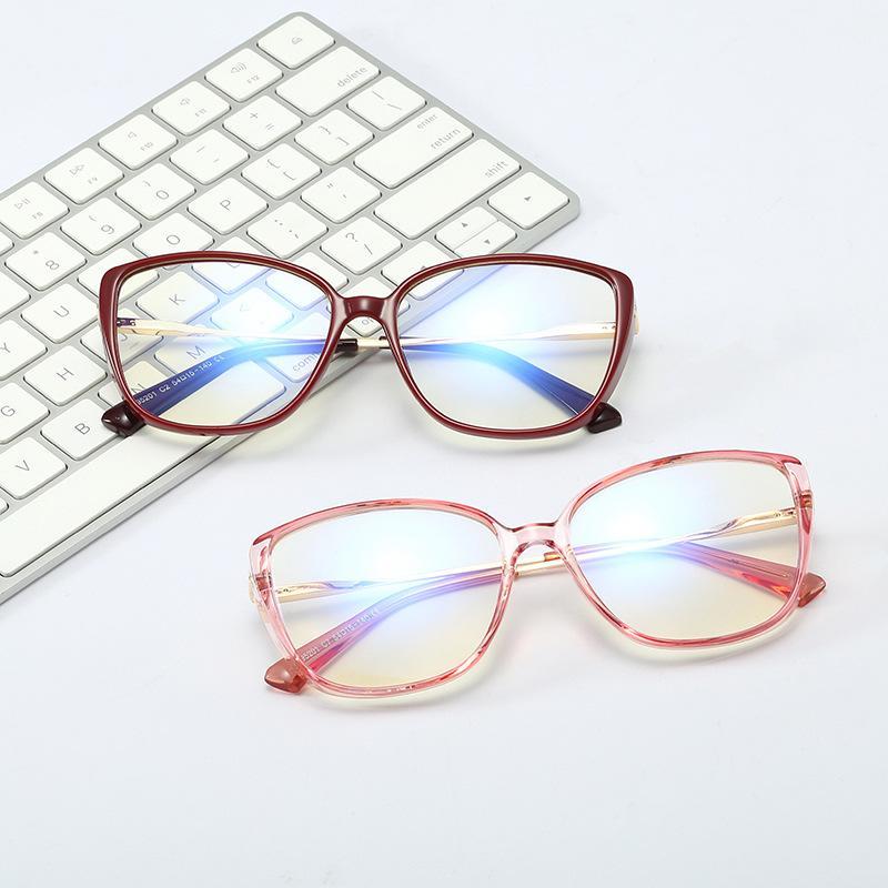 La luz azul gafas de bloqueo del marco de moda en moda mujer Square vidrios ópticos transparentes 2020 Nueva claro retro Marco de metal FML