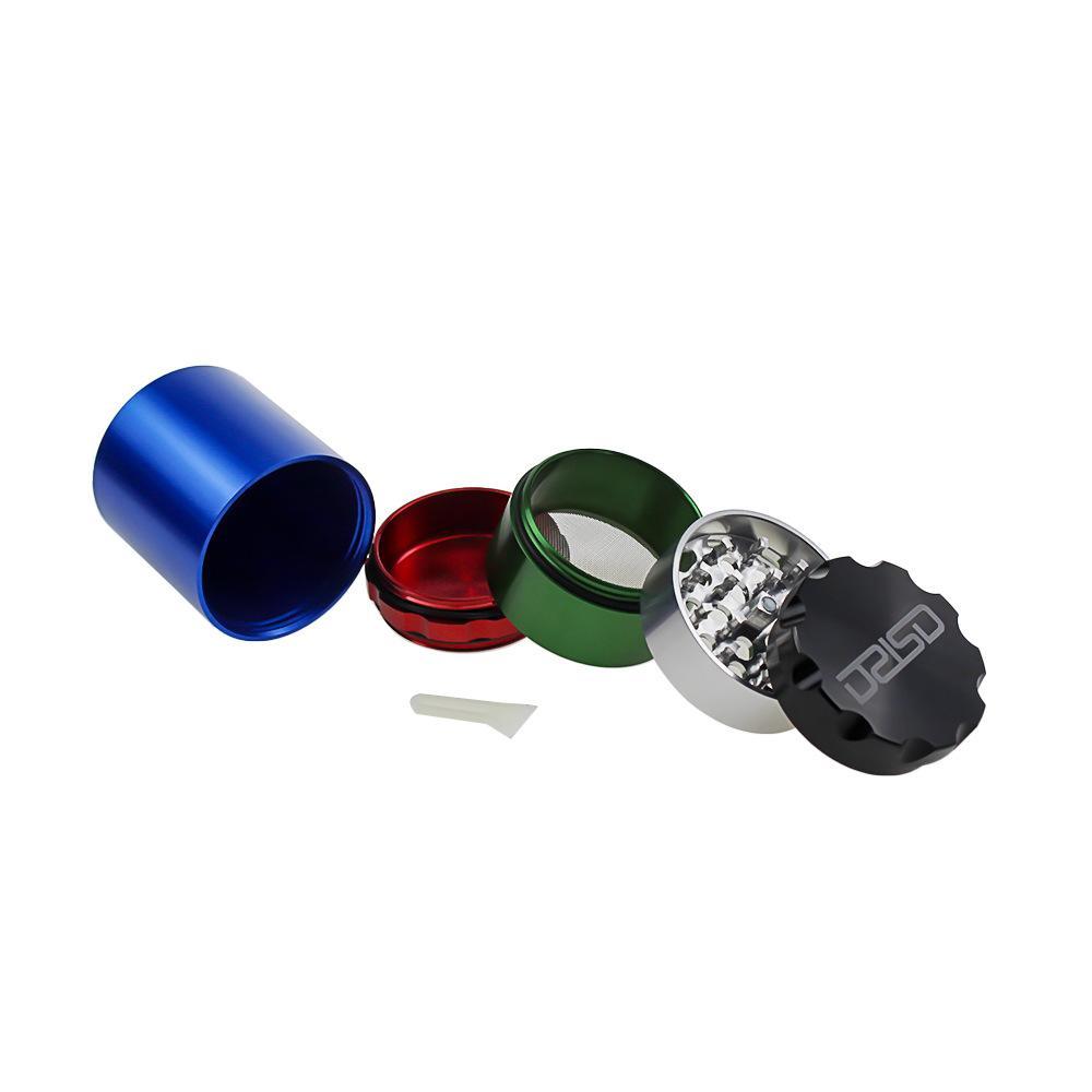 Tobacco Herb Grinders Five Layers Aluminium Alloy Grinder Metal dia 50mm have 5 colors Smoking Grinder DHL free
