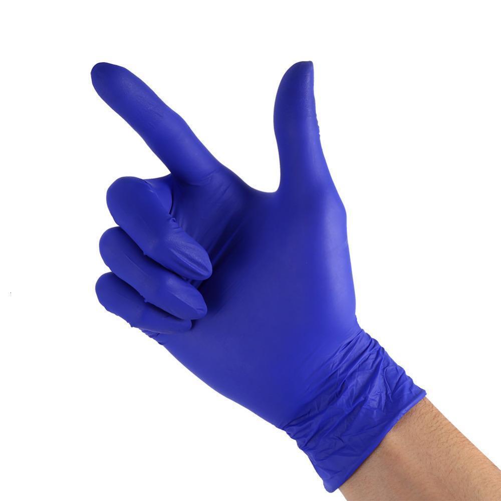 Monouso in nitrile Laboratorio 100pcs Home Food lattice per pulizia guanti di gomma C190421011