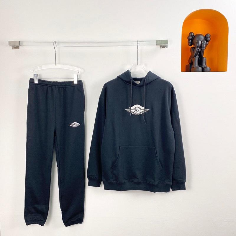 2020 أزياء أوروبا فرنسا باريس الولايات المتحدة الأمريكية التعاون كرة السلة التطريز هوديي مقنع البلوز sweatpants رجل الرياضة رياضية المرأة الدعاوى