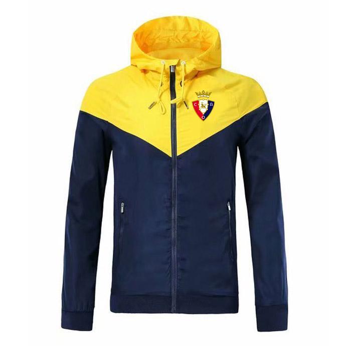2020 Sweat-shirt à capuche Homme osasuna Veste Manteau à manches longues avec logo Automne Sport Zipper windcheater Designer Mens Clothe