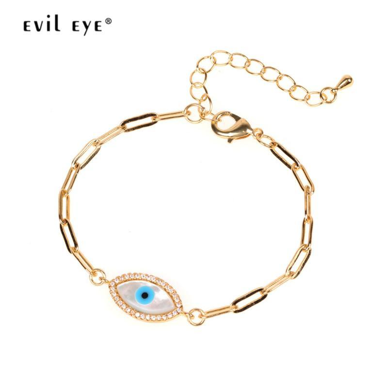 EVIL EYE Shell Сердце Фатимы Рука браслет цвета золота цепи браслет регулируемый Подарки для женщин Девушки ювелирной моды LE503