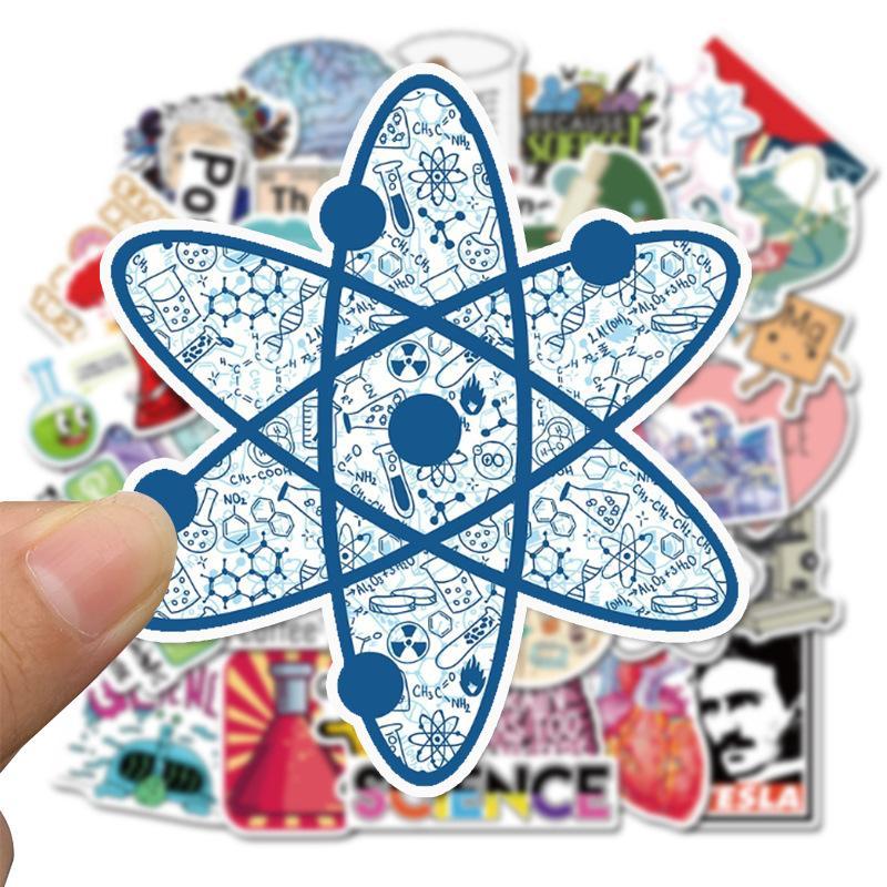 Best-vendita di 50 Science Lab adesivi cancelleria personalizzata decorativi adesivi graffiti bambini giocattoli