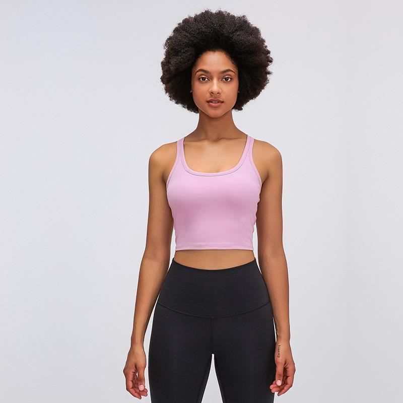 Sport-BH lu Yoga läuft Gymnastik kleidet Frauen Weste mit Brustpolster hautfreundliches Training Sport lu BH stoßfest Training Fitness-Unterwäsche