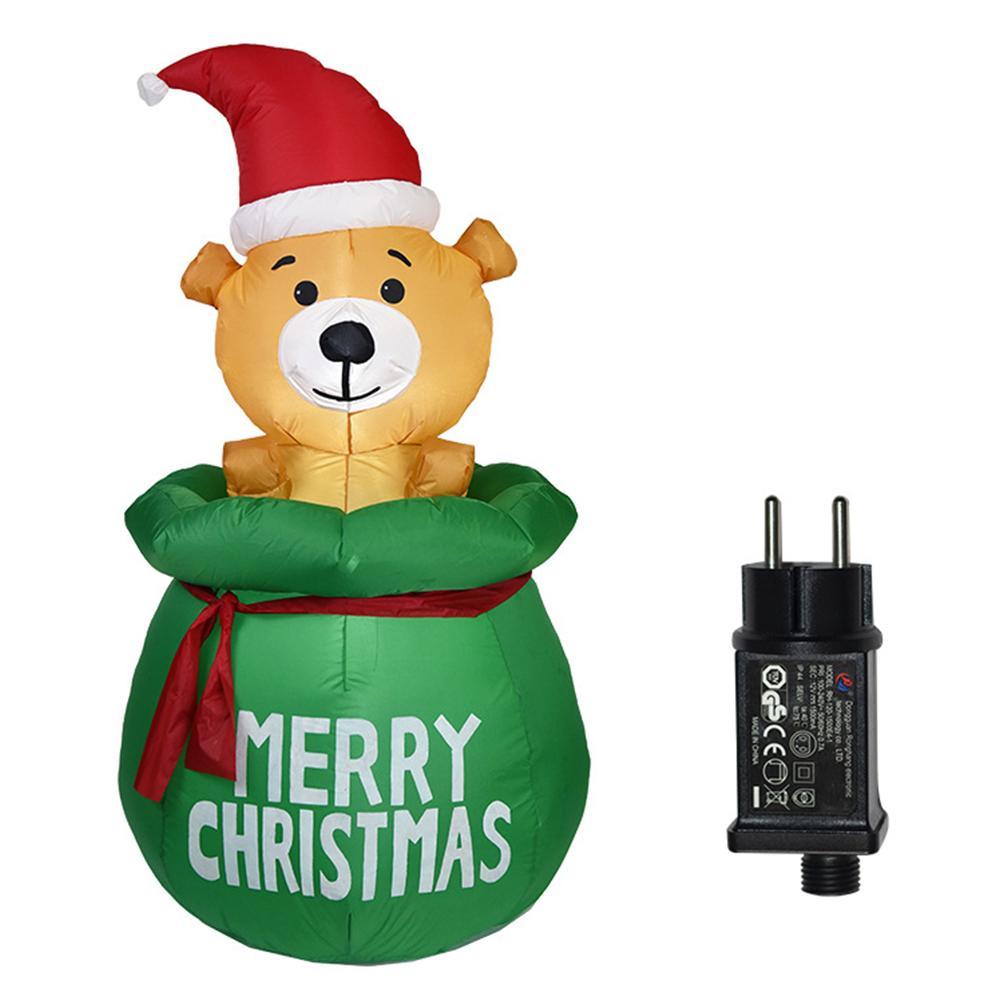1.5m Kids Toy Home Decor regalo di Natale gonfiabile Modello esterno Prato coperto