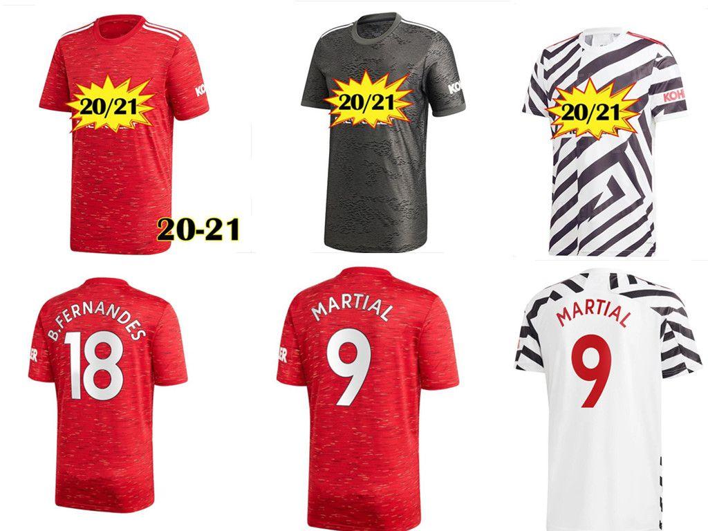 2020 2021 FC Manchester pullover RASHFORD B. FERNANDES Pogba calcio delle camice della Jersey di gioco del calcio MARZIALI uniti UTD 20 21 uniformi uomo corredo + bambini